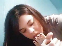 Amateur, Brunette, Foot Fetish, Webcam