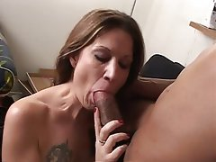 Blowjob, Facial, Interracial, MILF, Lingerie