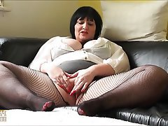 BBW, British, Masturbation, Mature