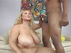 BBW, Big Boobs, Big Butts, Blonde, Interracial