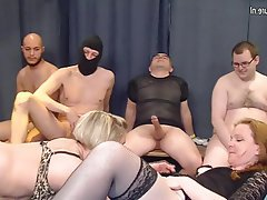 Gangbang, Group Sex, Granny, Mature, MILF