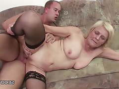 Granny, MILF, Old and Young, Stockings, Teen
