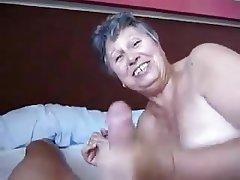 Big Boobs, Blowjob, Cumshot, Granny, Mature