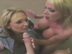 Cum in mouth, Cumshot, Facial, Handjob, Threesome