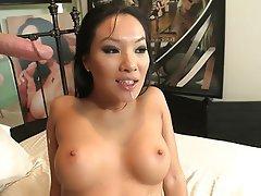 Asian, Big Boobs, Blowjob, Brunette, Face Sitting