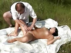 Blowjob, Cumshot, Old and Young, Outdoor
