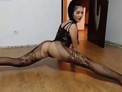 Amateur, Brunette, Lingerie, Stockings, Webcam