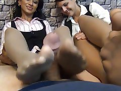 Foot Fetish, Handjob, Indian, Pantyhose